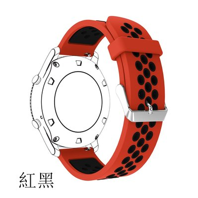 博能 Polar Vantage M 錶帶 撞色硅膠 洞洞款 22MM接頭 替換腕帶 智能手錶帶