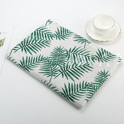 戀物星球 棉麻布料日韓風格柳樹葉抱枕桌布掛布窗簾手工diy沙發面料亞麻布