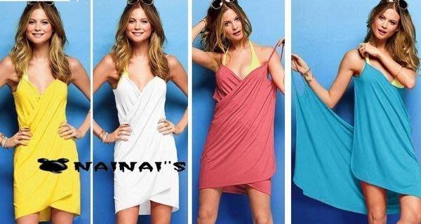 【NAINAIS】Style‧9664 波希米亞海灘度假 多穿法SEXY比基尼必搭 露背披肩圍裙洋裝 8色預