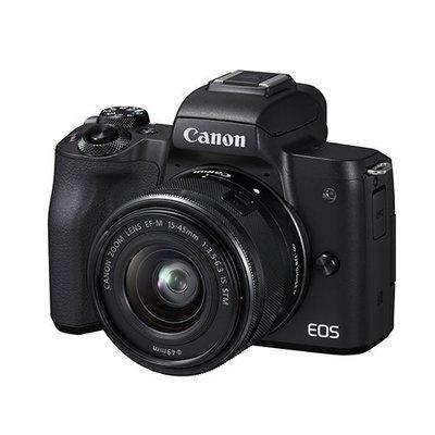 【eWhat億華】特價出清 Canon EOS M50 搭 EF-M 15-45MM 單鏡組 EOSM50 公司貨 黑色【3】參考 EOSM6