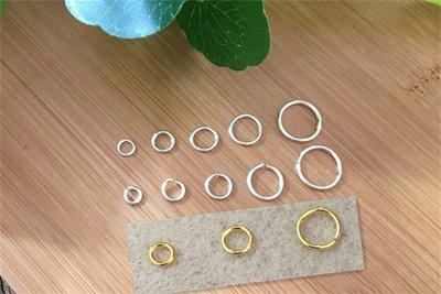 JM精品 #925銀DIY手串 項鏈配件連接扣 飾品 素銀銀開口環 閉口銀圈