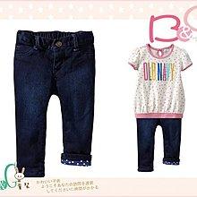 【B& G童裝】正品美國進口OLD NAVY 內裡藍色點點牛仔長褲3yrs