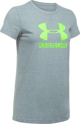 [麥修斯]UA  HG Sportstyle 麻花灰 女款10 短袖上衣 1298611-025