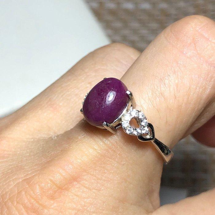 【《譚媽媽小舖》】*~天然無燒紅寶石戒指~*4.15克拉