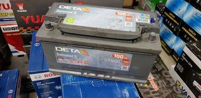 (鶯歌中古電池) 德大 DATA DA1000 100AH(同60044) 汽車電池 數值漂亮,品項優 歐系車專用