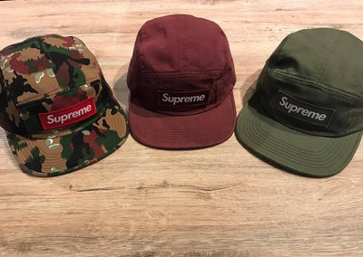 【MASS】 SUPREME MILITARY CAMP CAP 厚貼布 酒紅/綠/白/迷彩 除了黑