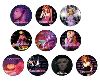 現貨 MADONNA Confessions On A Dance Floor pinback BADGE SET 1b 襟章 徽章 (一套10個)