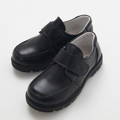 米米世界【全館現貨】HBS6180兒童大尺碼西裝黑色真皮皮鞋/白色皮鞋/男童禮服皮鞋/32-37號