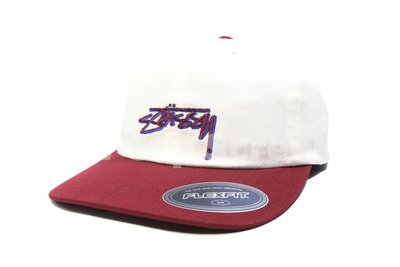 【ScrewCap】Stussy FITTED LOW CAP WHITE 彈性 全封款