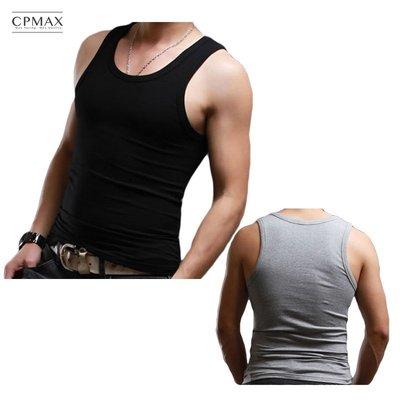 CPMAX 平紋彈力棉背心 舒適棉質高彈力內搭 男款背心 運動背心 棉質背心 素色背心 貼身背心 無袖背心【VE07】