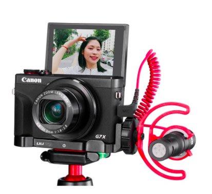 *大元 台北*【Vlog配件】Canon G7XM3 專用L型握把 擴充 麥克風 G7X Mark III 不含主機