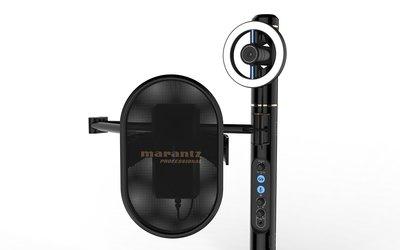 【又昇樂器 . 音響】MARANTZ Turret 直播專用 可調亮度LED視訊相機+電容麥克風+耳機擴