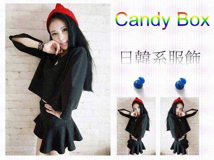☆Candy Box☆ 2014秋装新款韓版套装 黑 Y1022104