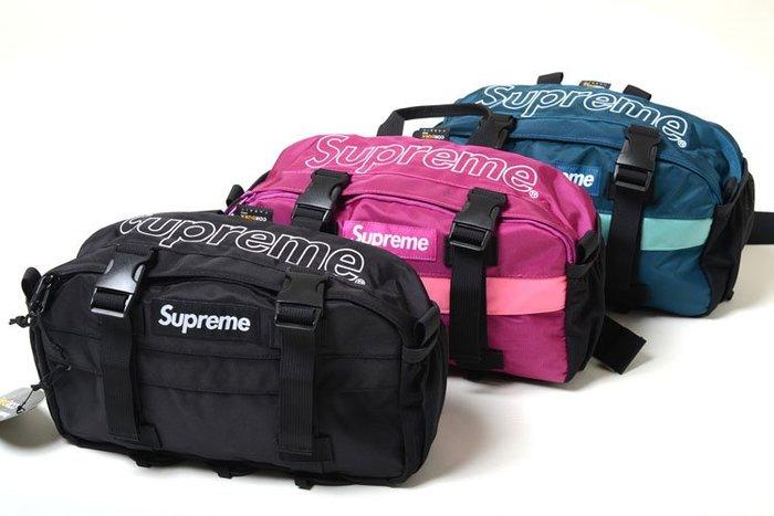 【超搶手】全新正品2019 FW 秋冬Supreme Waist Bag 47代 47TH 腰包 防潑水 黑樹紋桃紅藍色