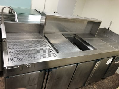【見康食品】二手設備-(A8)厚板訂製豪華沙拉吧台(另售刨冰機、雪花粉、仙草粉、芋圓預拌粉、創業、加盟連鎖)