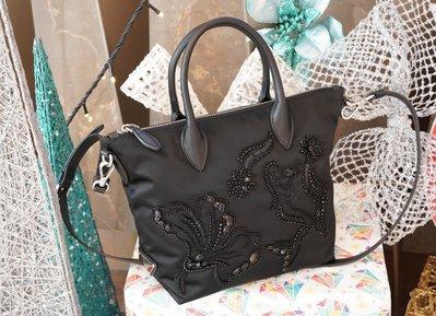 Prada 1BA073 Nylon Beaded Tote Bag 小型繡珠托特包 黑 現貨