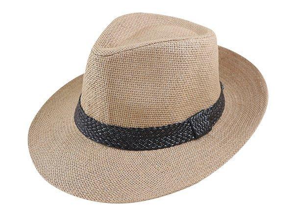金城武同款通用型限定帽子/ 流行(鱷魚皮緞帶3.5cm)寬邊(7.5cm)加大帽沿翹尾紳士帽-3色.直購價