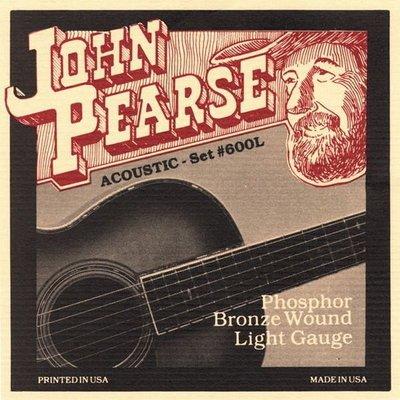 ☆ 唐尼樂器︵☆美國製 John Pearse 木吉他/民謠吉他 #600L (12-53)磷青銅弦