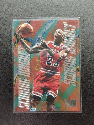 (老卡系列)Michael Jordan 1995-96 Fleer Metal Scoring Magnet  Chicago Bulls