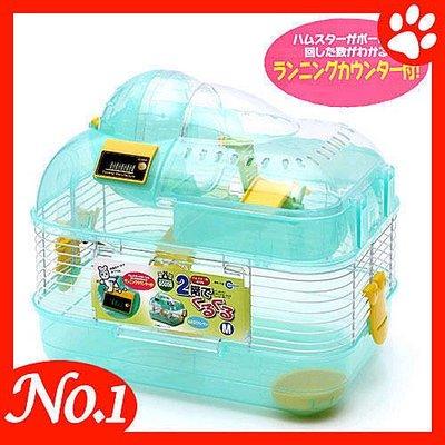 ☆~狗族遊樂園~☆日本MARUKAN【 MR-758 M/ 綠 】可計時鼠鼠雙層遊戲屋 新北市