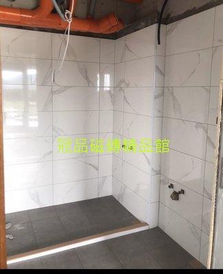 ◎冠品磁磚精品館◎進口精品 高亮釉數位壁磚-銀狐白粗紋- 30X60 CM