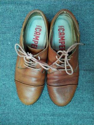 西班牙品牌 Camper 咖啡色真皮皮鞋休閒鞋牛津鞋 新北市