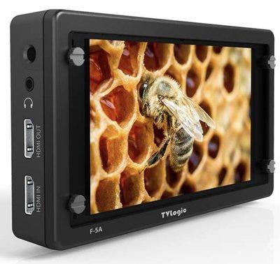 九晴天 租螢幕、monitor出租、租監視器 租鏡頭 出租~TVLogic F-5A SDI-HDMI 5.5吋螢幕