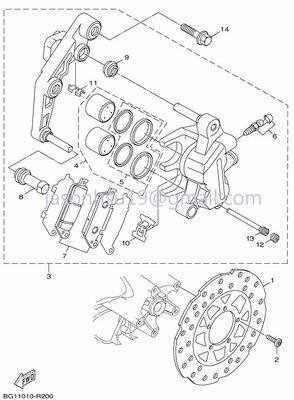 【車輪屋】YAMAHA 山葉原廠零件 新勁戰五代 5代 前後輪 卡鉗 碟盤 剎車總泵 周邊相關零件 歡迎詢價