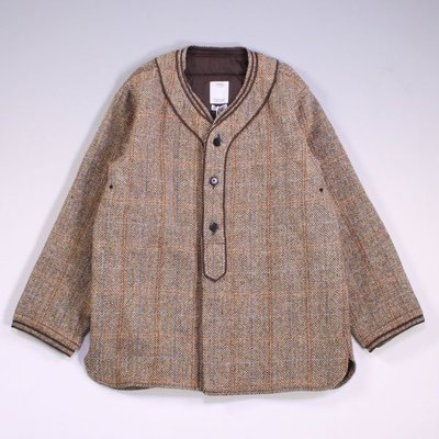 VISVIM DUGOUT SHIRT L/S HARRIS TWEED