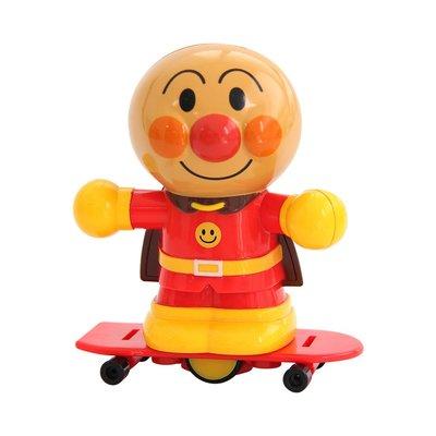 積木城堡 迷你廚房 早教益智面包超人兒童益智玩具旋轉滑板面包超人發條玩具