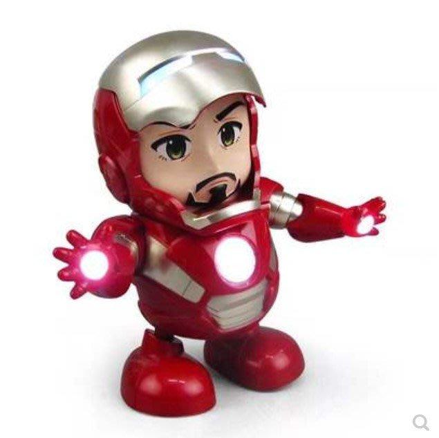小鋼鐵人玩具 電動機器人玩偶 迷你鋼鐵人會唱歌 會跳舞 會移動 會搖擺 會發光 有音樂 三號電池三顆 官方配備/澤米
