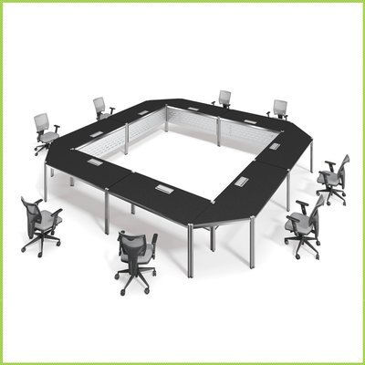 【OA批發工廠】系統會議桌 口字腳桌 環式會議桌 大型會議桌 簡約現代設計 客製品需先詢價 IMMENSE