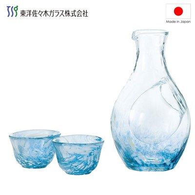 [偶拾小巷] 日本製 高瀬川 冰河 冷酒 清酒杯組(一壺兩杯)