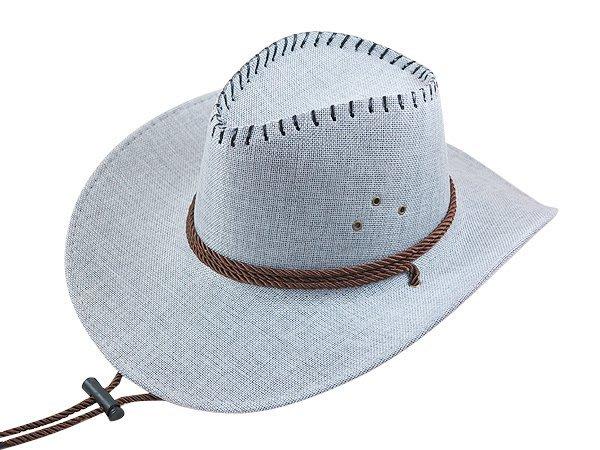 【二鹿帽飾】 皮繩滾邊 高質感 麻料 牛仔帽/ 西部帽/ 牛仔帽/表演帽/國小以上表演專用帽-5色