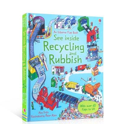 英文原版 揭秘垃圾 垃圾分類及回收 早教科普科學知識翻翻書 Rubbish and Recycling See Insi
