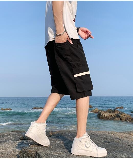 FINDSENSE X 薄款 休閒工裝短褲 多口袋 短褲多袋 速幹運動男式短褲