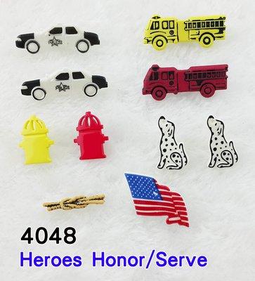 【松芝拼布坊】美國進口造型鈕釦【#4048】Heroes Honor/Serve【英雄榮譽/服務】拼布、布料、裝飾