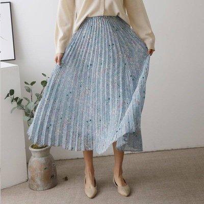 正韓 vanilla、香草、茉莉、梨花 大推超美滿天星百摺雪紡長裙,半長內裡。原價$1080,連線價$580。