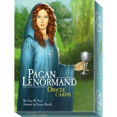 【預馨緣塔羅鋪】現貨正版異教雷諾曼指引卡pagan lenormand oracle card(全新38張)