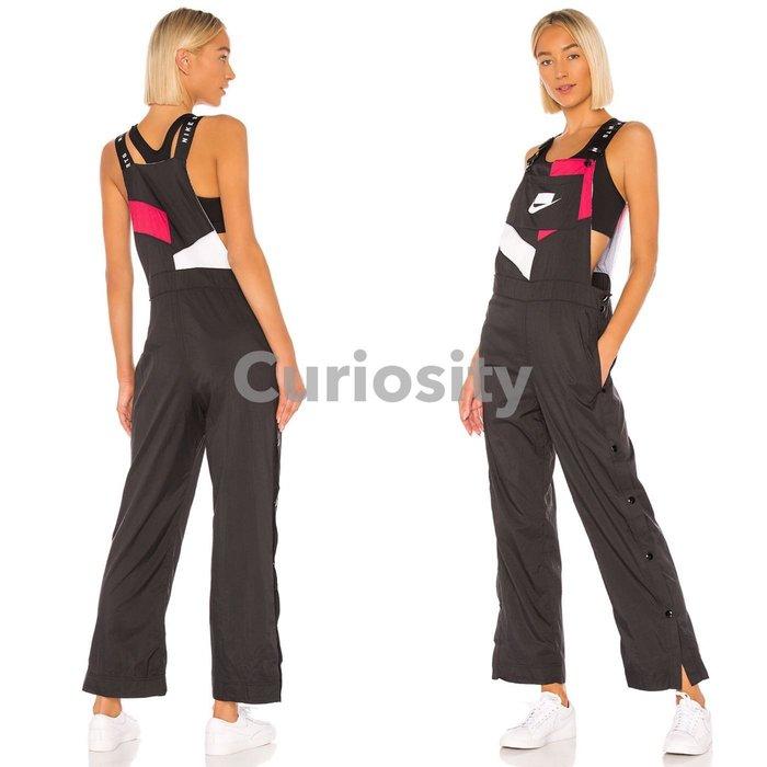 【Curiosity】NIKE 俏皮性感吊帶連身褲連身長褲黑色 XS/S 二側褲長扣可開叉$4280↘$3599免運