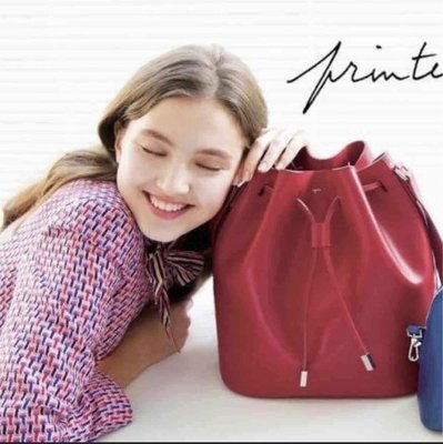 Agnes.B 紅色大水桶袋