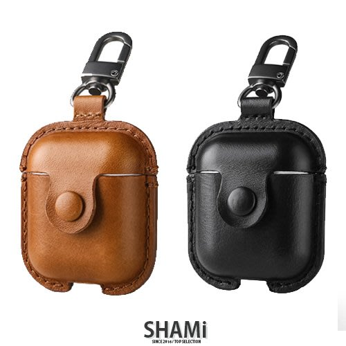 USAMS 全真皮牛皮 Airpods 1/2 耳機套 保護套【ER810】蘋果藍芽耳機周邊 收納包 保護包 套子