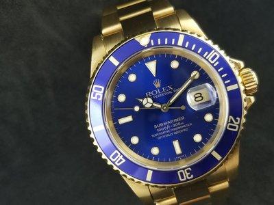 二手 Rolex Submariner BLUE   16618