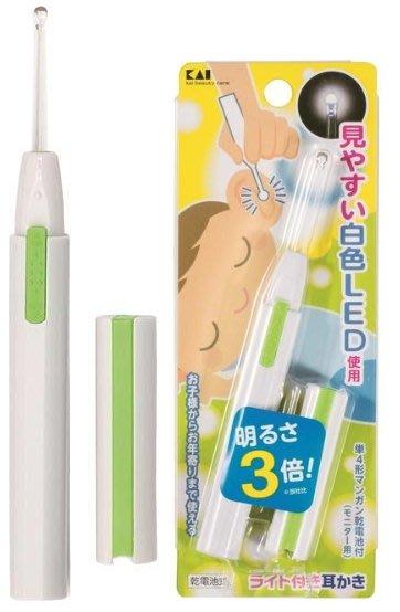 幸福♥SHOP 【KAI貝印】KQ-0291抗菌照明耳扒-3倍亮度
