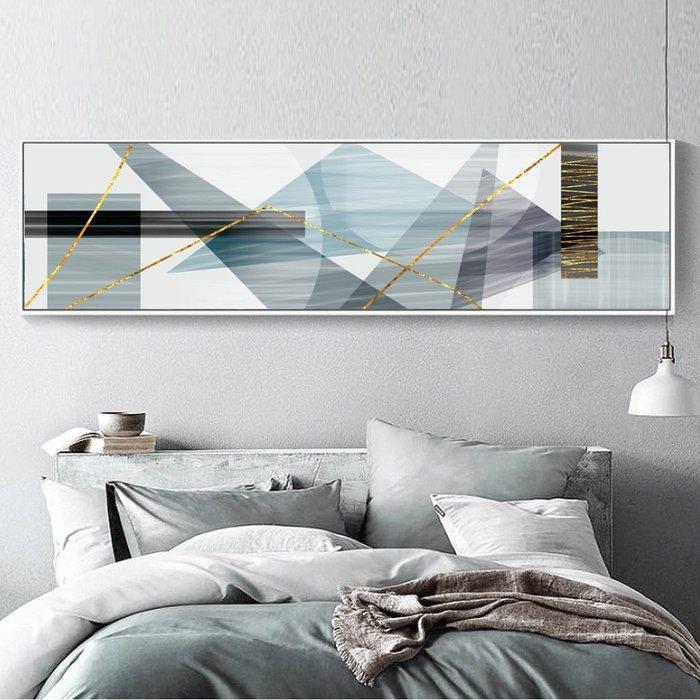 北歐現代簡約酒店賓館床頭畫客廳沙發掛畫壁畫有框畫微噴打印