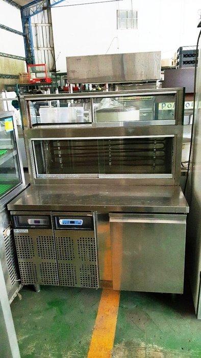 國際二手貨中心-----超強功能 雙壓縮機  訂作款 營業用  4尺展示台冰箱 鹹酥雞 滷味攤 卡不里 展示冰箱