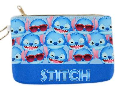【卡漫迷】 Stitch Q版 滿版 化妝包 ㊣版 Tsum 史迪奇 星際寶貝 鉛筆袋 PVC 萬用包 防水 收納包