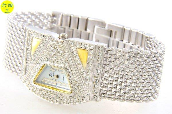 (六四三精品)ROBERTA(真品)超美滿天星.編織型錶帶.時尚精準錶!