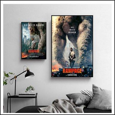 日本製畫布 電影海報 毀滅大作戰 Rampage 掛畫 無框畫 @Movie PoP 賣場多款海報~