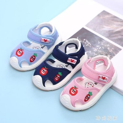 男女寶寶鞋子0-3歲寶寶涼鞋軟底嬰兒涼鞋防滑學步鞋機能鞋 st3976